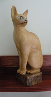 "Sphinx Cat; 13"" x 4"" x 8"""